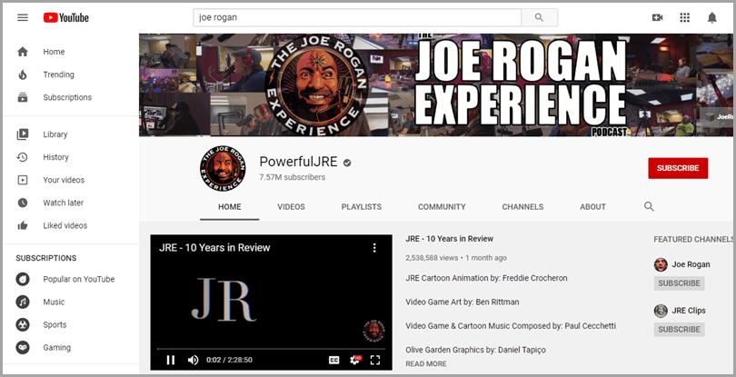 Podcastiong-Joe-Rogan-Experience-Youtube-Content-Marketing